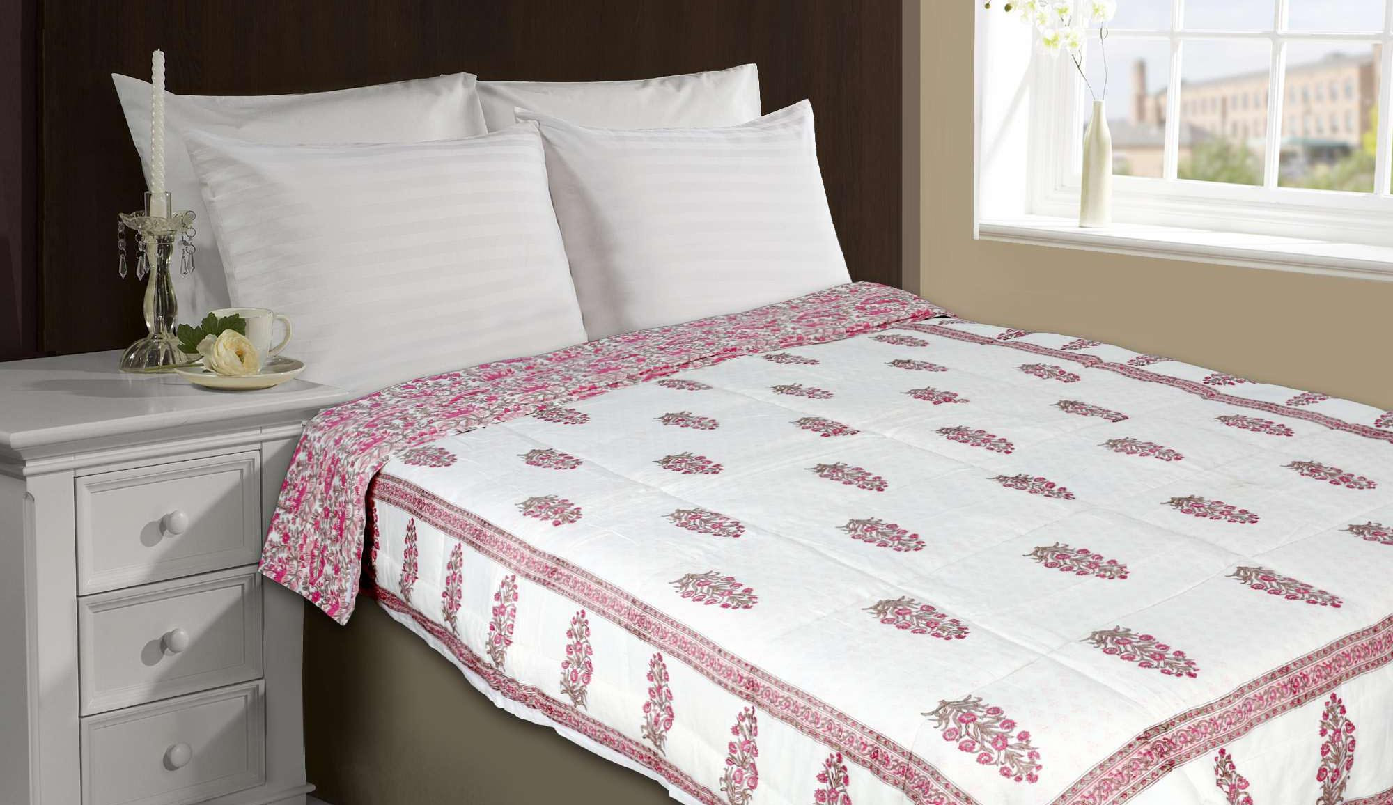 Handmade bed sheets design - Handmade Set Of Razai